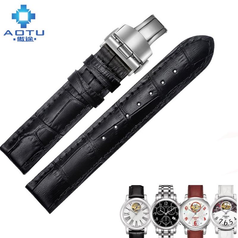где купить  Genuine Leather Watch Strap For Tissot 1853 T050 16mm Women Leather Watchbands Straps For Ladies Watches Correas Para Reloj  по лучшей цене