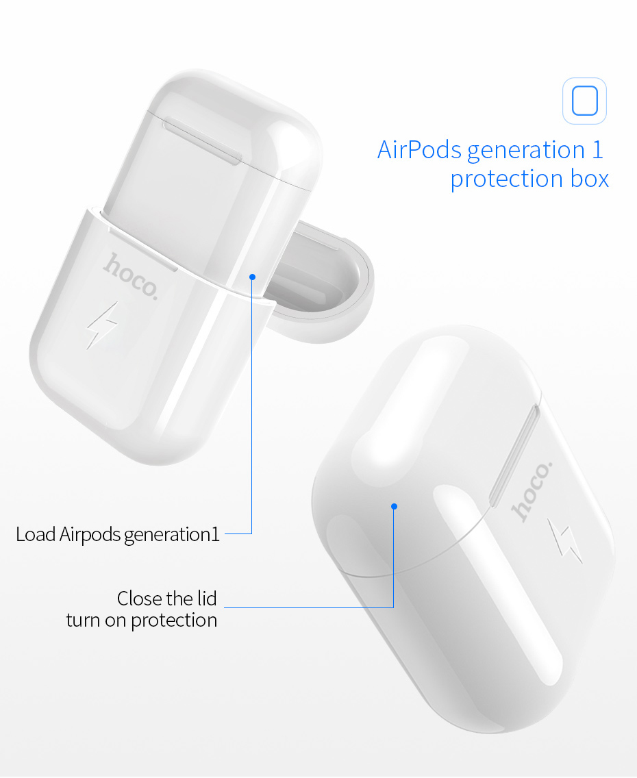 Hoco Wireless Charging Case For Airpods Series 1 Headset