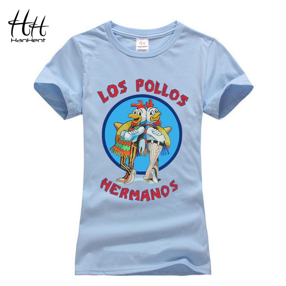 hanhent tee shirt femme los pollos hermanos t shirt pet woman breaking bad t shirts animal. Black Bedroom Furniture Sets. Home Design Ideas