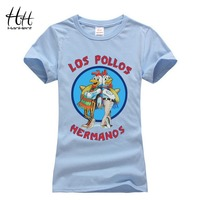 HanHent Tee Shirt Femme Los Pollos Hermanos T Shirt Pet Woman Breaking Bad T Shirts Animal