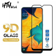9D Curved Tempered Glass on the For Samsung Galaxy A50 Screen Protector M10 M20 M30 A30 A10 Protective Film
