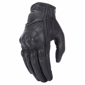 roaopp leather motorcycle gloves No-Perforated