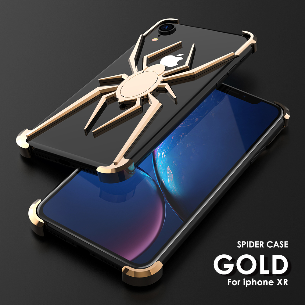 R-Just Case For Metal Bumper Shockproof-Protection Spider-Theme IPhone Xs Aluminum Back-Cover