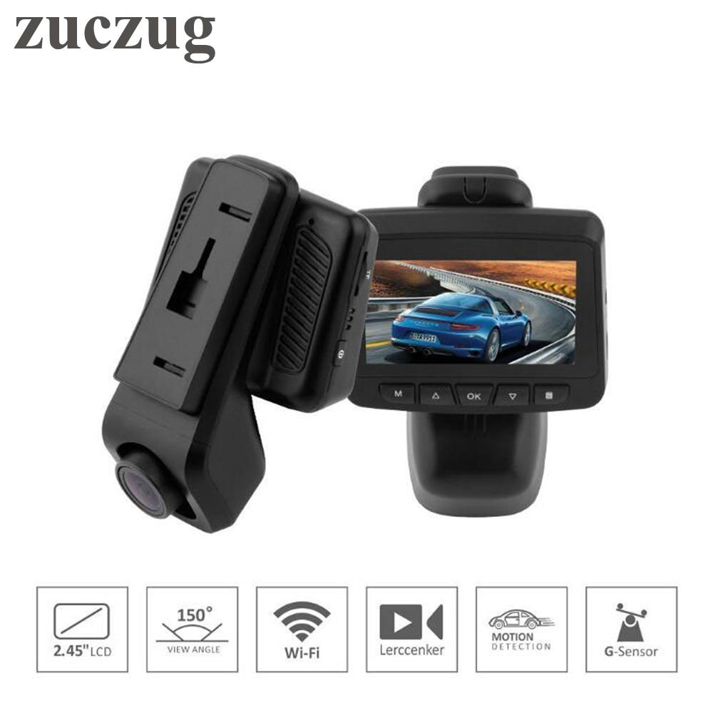 ZUCZUG Sony IMX323 WiFi voiture DVR caméra Dash Cam Novatek 96658 DVR enregistreur vidéo 2.45 pouces IPS écran FHD 1920*1080 P 30fps