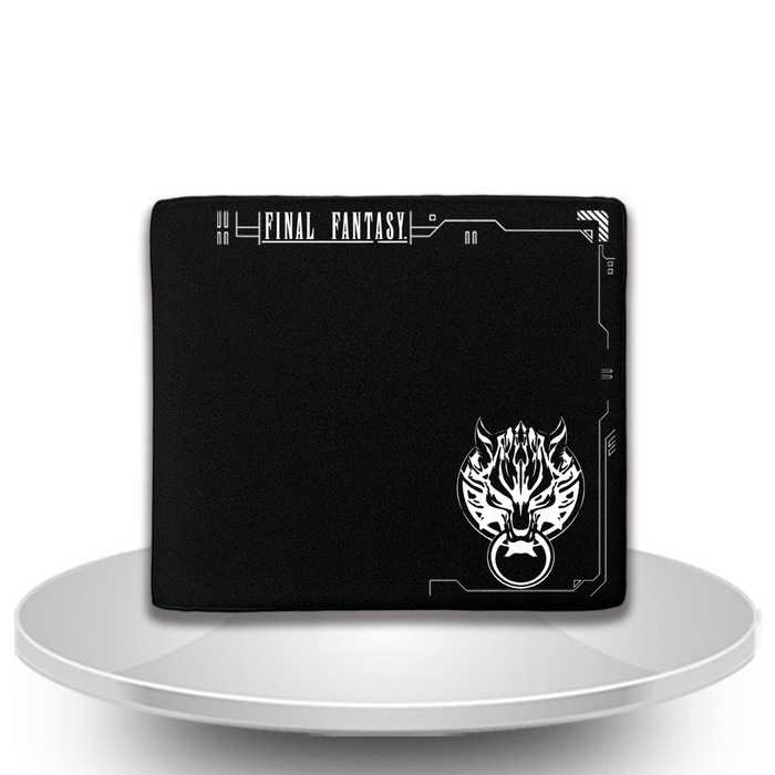 Final Fantasy Black Men Wallets PU Leather Unisex Short Purse New final fantasy type 0 hd