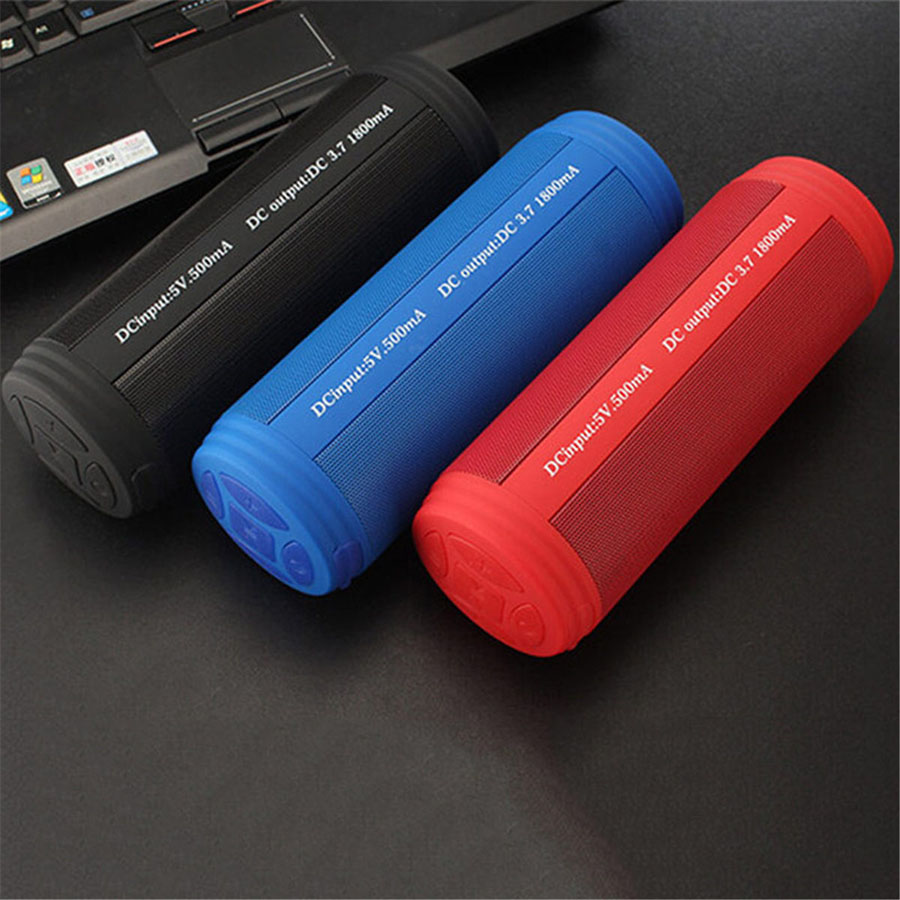 10W Waterproof Wireless Bluetooth Speaker Portable Outdoor Mini Column Box Loudspeaker Soundbar Support Aux TF FM MP3 Radio