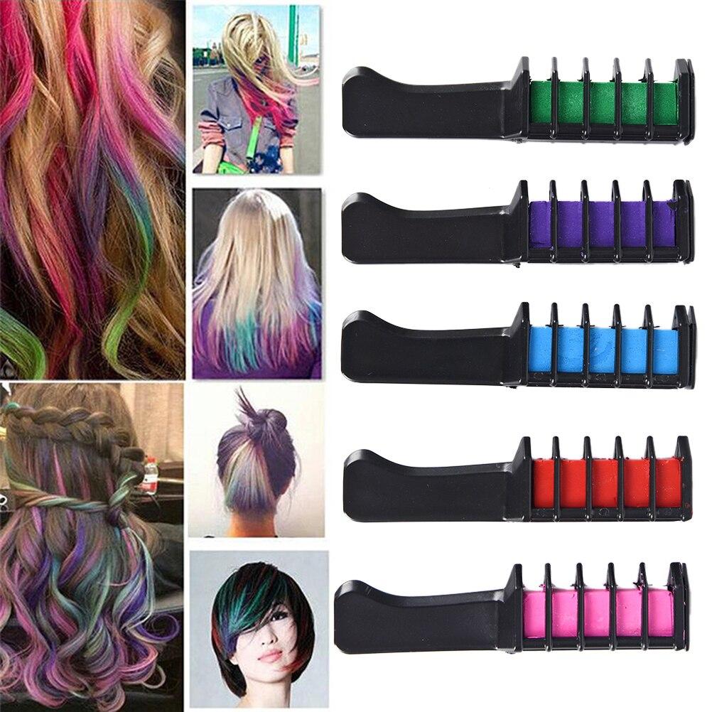Salon Hair Brush Comb for Barber Home Use Hair Dyeing DIY Hairdressing Tint Brush Hairbrush Hair Chalk Dye Powder With Comb Tool