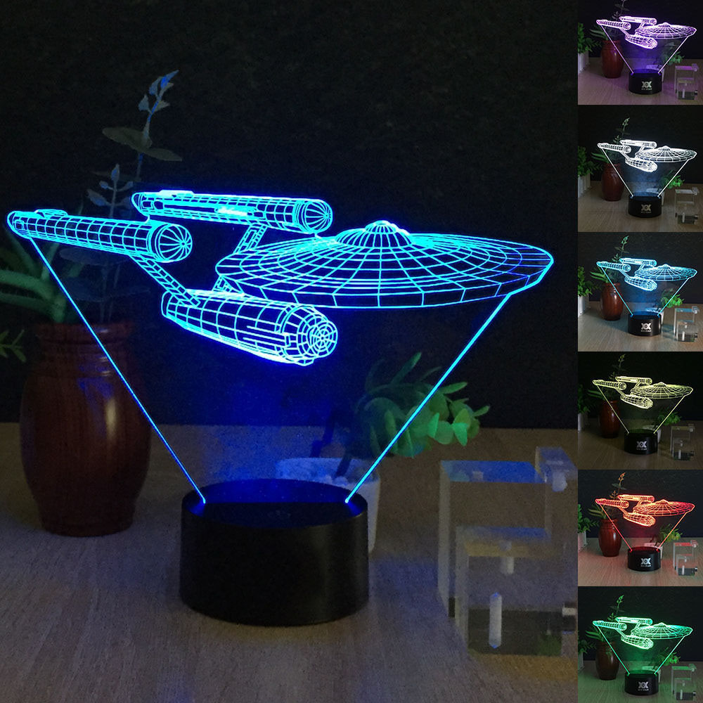 Desk Lamp 3d Star Wars 7 Colors Change Touch Switch Table ...