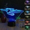 Lâmpada de mesa em 3d de Star Wars 7 Cores Mudar Interruptor de Toque Tabela LED Night Light Iluminação Para Casa Decoração Casa Acessórios