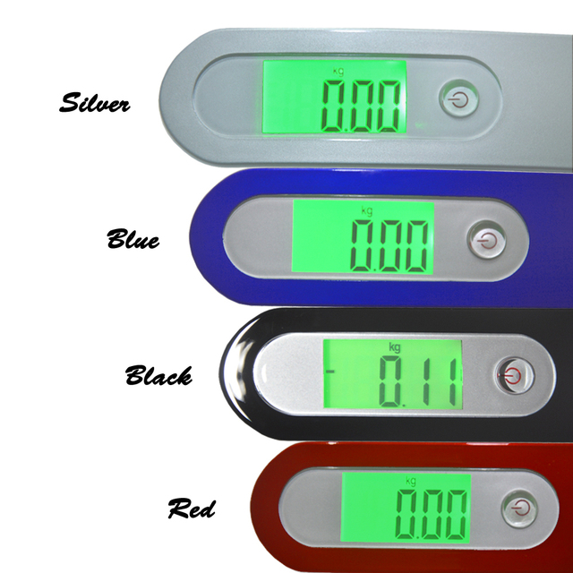 1pc 50kg Mini Portable Electronic Weight Luggage Scale  with LCD Digital Display