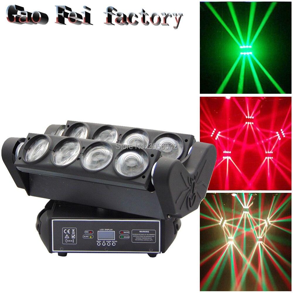 Tête mobile lumière de la scène pleine couleur LED 8 yeux secouant spider éclairage de scène