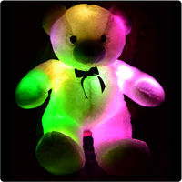 Colorful LED Plush Toys With Music Light Emitting Pillow High Quality Bear