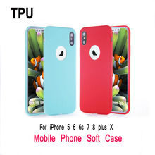 TPU ultra-thin soft shell case for iPhone 5 5s 6 6 silicone full protective rubber for iPhone 5 6 S 7 8 Plus X mobile phone case