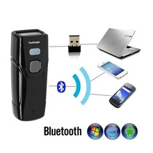 Sem fio bluetooth scanner de código de barras mini laser leitor portátil luz vermelha ccd bolso código de barras arma para ios android windows