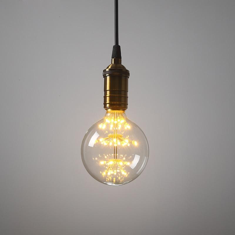 Vintage Classic LED Stars Bulb ST64 G95 A60 E27 Retro Antique Lamp For Coffee Bar Restaurant Home Decoration AC220-240V