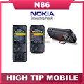 Русский поддержка клавиатуры Nokia N86 оригинальный разблокирована GSM 3 Г WI-FI GPS 8MP Мобильного телефона Черный и Белый Восстановленное бесплатная доставка