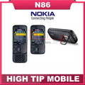 Soporte de teclado ruso nokia n86 abierto original gsm 3g wifi gps 8mp teléfono móvil negro y blanco reformado envío libre