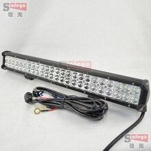 1 unids 23 pulgadas 144 w CREE LED barra ligera del trabajo con cables 144 w faros combo OFFROAD lámpara 144 w llevó la luz de conducción