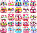 Muchachas de la manera 3D de dibujos animados gatito elsa princesa sandalias frescas de verano para niños sandalias del bebé zapatillas zapatos de playa flip flop de secador de pelo