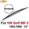 QEEPEI Задний Стеклоочиститель Нет Руку Для VW Golf MK 3 1992-1998 13 ''3 дверный Хэтчбек Высокое Качество Iso9001 Натуральный Каучук D1-33