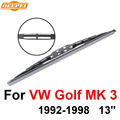 Qeepei brisas limpador traseiro sem braço para vw golf mk 3 1992-1998 13 ''3 portas Hatchback Alta Qualidade Iso9001 Borracha Natural D1-33