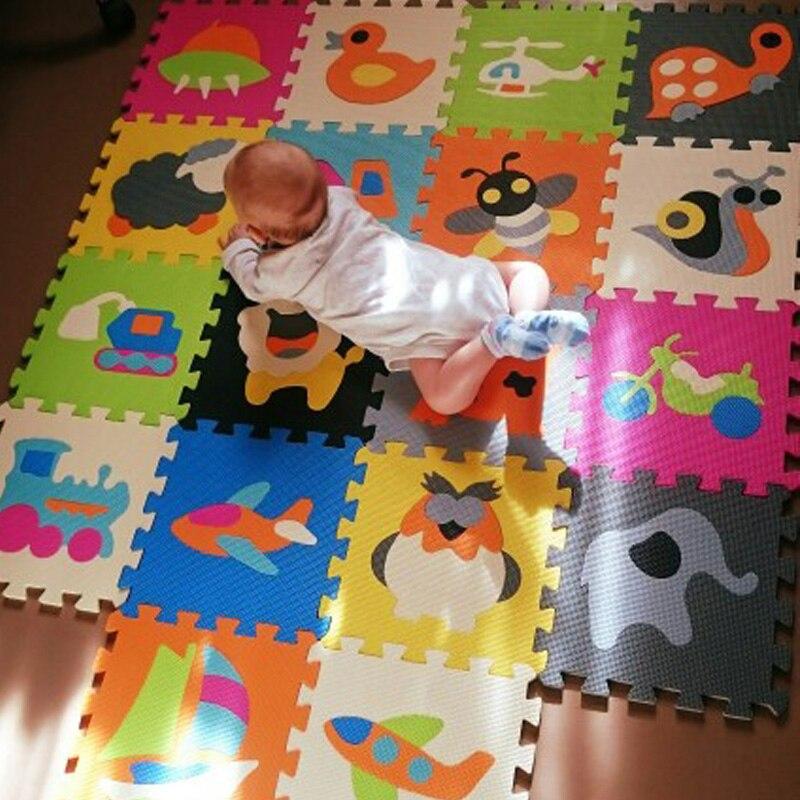 30*30*1 cm épaisseur éducation bébé jeu pad puzzle tapis bébé jouer doux ramper tapis non-toxique enfants Gym jouer tapis tapis éducatif