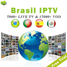 Latin 1 year 7000+Channels Brazil IPTV Brasil iptv code for m3u Android tv box enigma2 vlc Brasil IPTV live TV free trail все цены