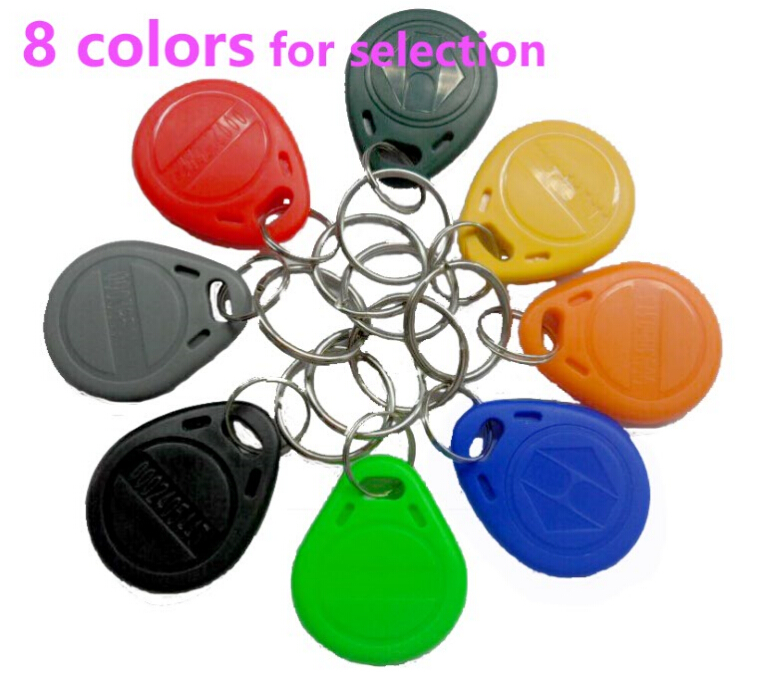 цена 100pcs/lot RFID 125khz Tags TK4100 Rfid Card Token Key Rfid Tag Access Control Acceso Pulseira 8 COLOR Smart Card ID Keyfobs