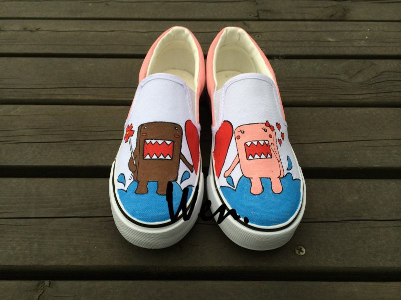 Wen White Hand Painted Slip On Shoes Design Custom Cartoon Dolls Men Womens Canvas Sneakers Christmas Gifts