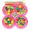 Новая Игра Рыбалка Доска + Стержень + Fish Toy Set Go Игра рыбалка Электрический Вращающегося Магнитного Рыбы Ребенка Развивающие Игрушки Подарки для дети