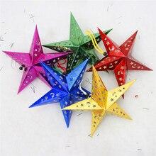 10pcs/Lot Christmas tree Decoration 3D Shining Stars laser pentagram Bar ceiling decoration Ornaments Christmas Gift Xmas Party