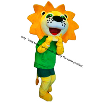 Yellow Lion Mascot Costume Cartoon Character Adult Sz 100 Real Picture Longteng