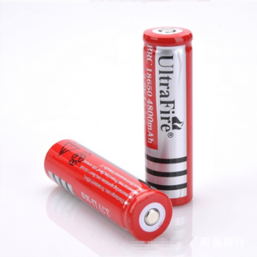 2PCS 18650 lithium battery 4800mAh 3.7V rechargeable battery for glare flashlight battery