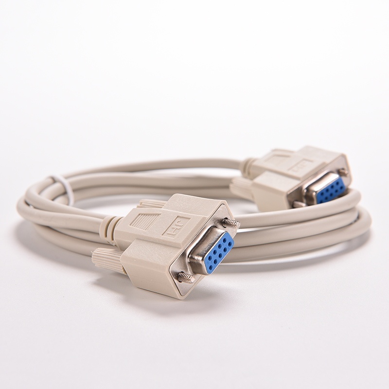 Image 4 - 1PC 5ft F/F Serial RS232 Null Modem Cable Female to Female DB9 FTA Cross Connection 9 Pin COM Data Cable Converter PC Accessory-in Computer Cables & Connectors from Computer & Office