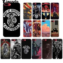 Yinuoda American TV Sons of Anarchy Black Soft Shell Phone Cover for iPhone 5 5Sx 6 7 7plus 8 8Plus X XS MAX XR