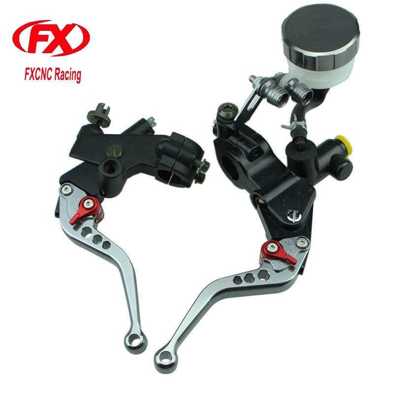 FX 125-600cc Motorcycle Brake Clutch Levers Master Cylinder Hydraulic Brake Cable Clutch For Kawasaki ZZR250 1990 - 1994 1991 92 motorcycle hydraulic brake clutch master cylinder reservoir levers 125cc 600cc for kawasaki zrx1100 zrx1200 zg1000 1992 2006