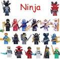 16 unids/lote ninja Policía Especial compatible Módulo doll Loose Ladrillo Castillo Caballero
