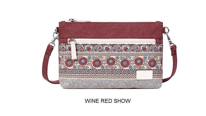 e078b6366b6 Women's Shoulder Bag Canvas Retro Style Floral Printing Handbags Female  Small Messenger Bag Women Crossbody Bags Daily Clutch