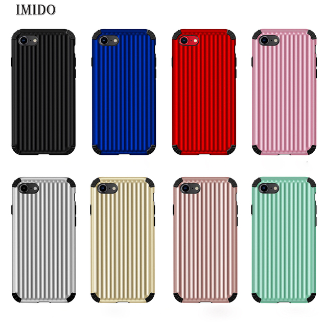 new product 1d82e 0f3b9 US $2.3 30% OFF|IMIDO Luxury Luggage Phone Case For iPhone XS MAX Fashion  Cute Suitcase Trunk TPU+PC Back Cover For iPhone X 8 7 6 6S Plus Coque-in  ...