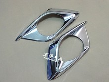 for 2012 2013 2014 2015 mazda cx 5 cx 5 cx5 abs chrome rear fog light lamp cover trim tail fog light cover car styling accessory 2PCS Car-styling ABS chrome rear fog lamp cover for 2014 Mazda 3 AXELA auto fog light trim plastic plating cover sticks