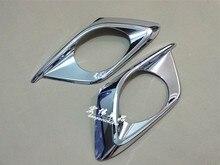 цена на 2PCS Car-styling ABS chrome rear fog lamp cover for 2014 Mazda 3 AXELA auto fog light trim plastic plating cover sticks