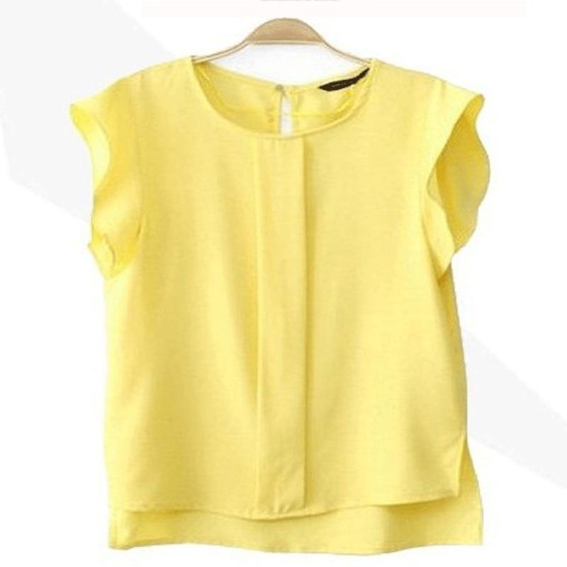 2017 mujeres clothing blusas de gasa verano de la señora camisa de la blusa s-xl