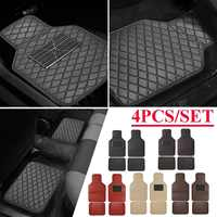 Universal Leather Front Rear Car Floor Mats Pad Car Carpet Mats Waterproof Anti dirty Anti slip Floor Mats For Most Cars Black
