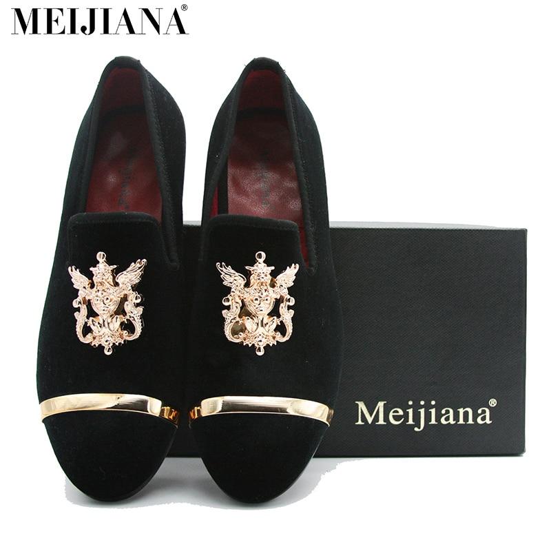 Estilo europeo hombres zapatos de boda MEIjiana Marca punta estrecha zapatos de