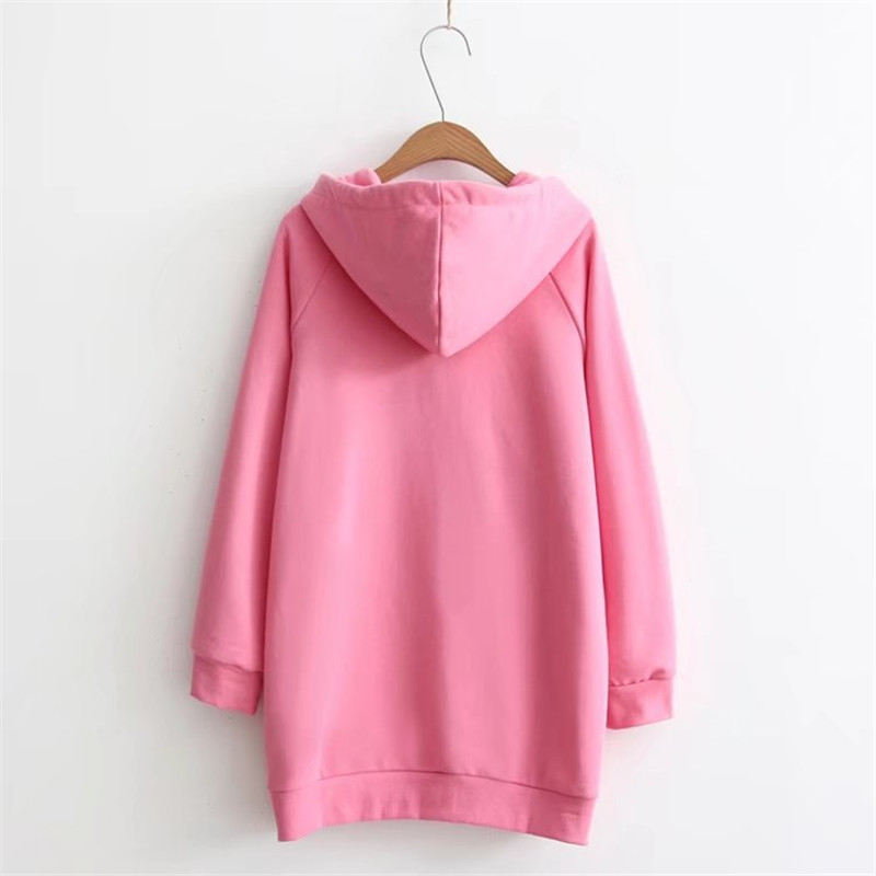 women hoodies  long sleeve  hoody ladies dress cotton fashional flash pink pullovers cotton hoody regular avarage size clothes
