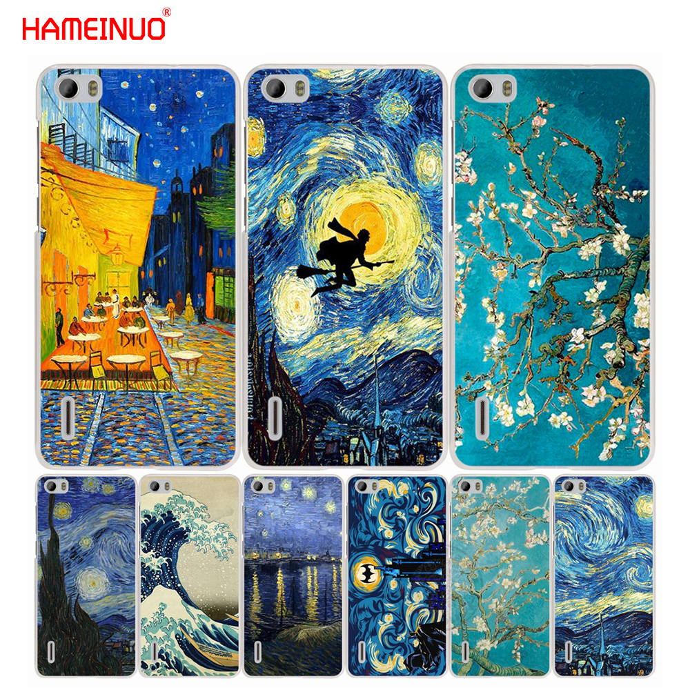 HAMEINUO Vincent Van Gogh Starry Sky Oil cell phone Cover Case for huawei honor 3C 4A 4X ...