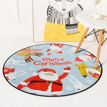 New Year Christmas Round Carpet Santa Claus Christmas Tree Rugs Kids Bedroom Snowman Decorative Carpets Gift Living Room Rug skidproof christmas snowman print bath rug