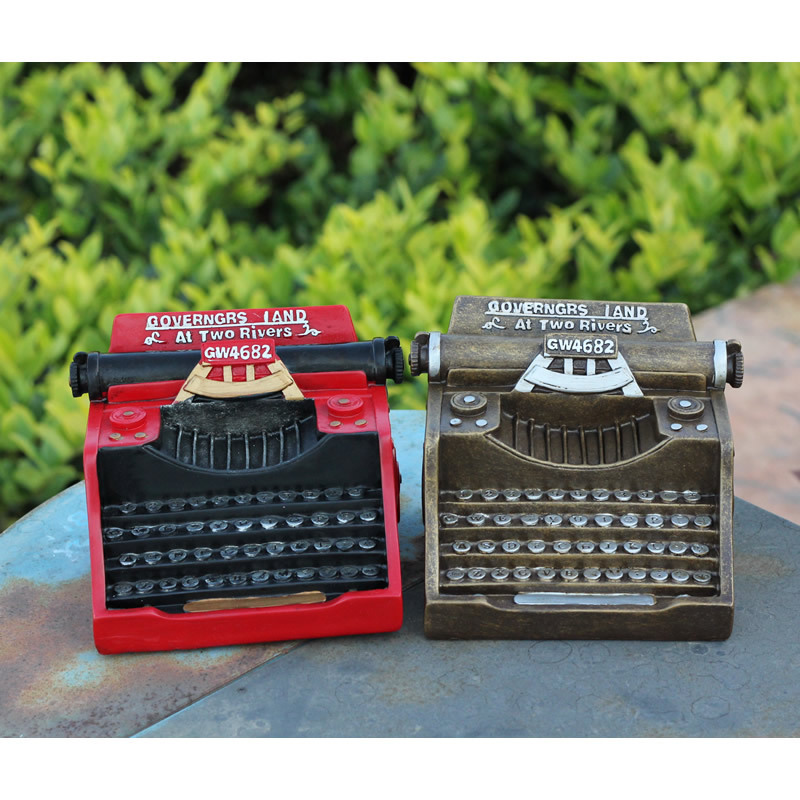 Retro Resin Typewriter Model Black White Machine a ecrire Coffee Shop Decoration Photo Props Crafts Gifts