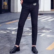 Fnazhuan men's male clothing trousers fashion casual pants pure color all-match Korean 2017 new 718200 skinny jeans