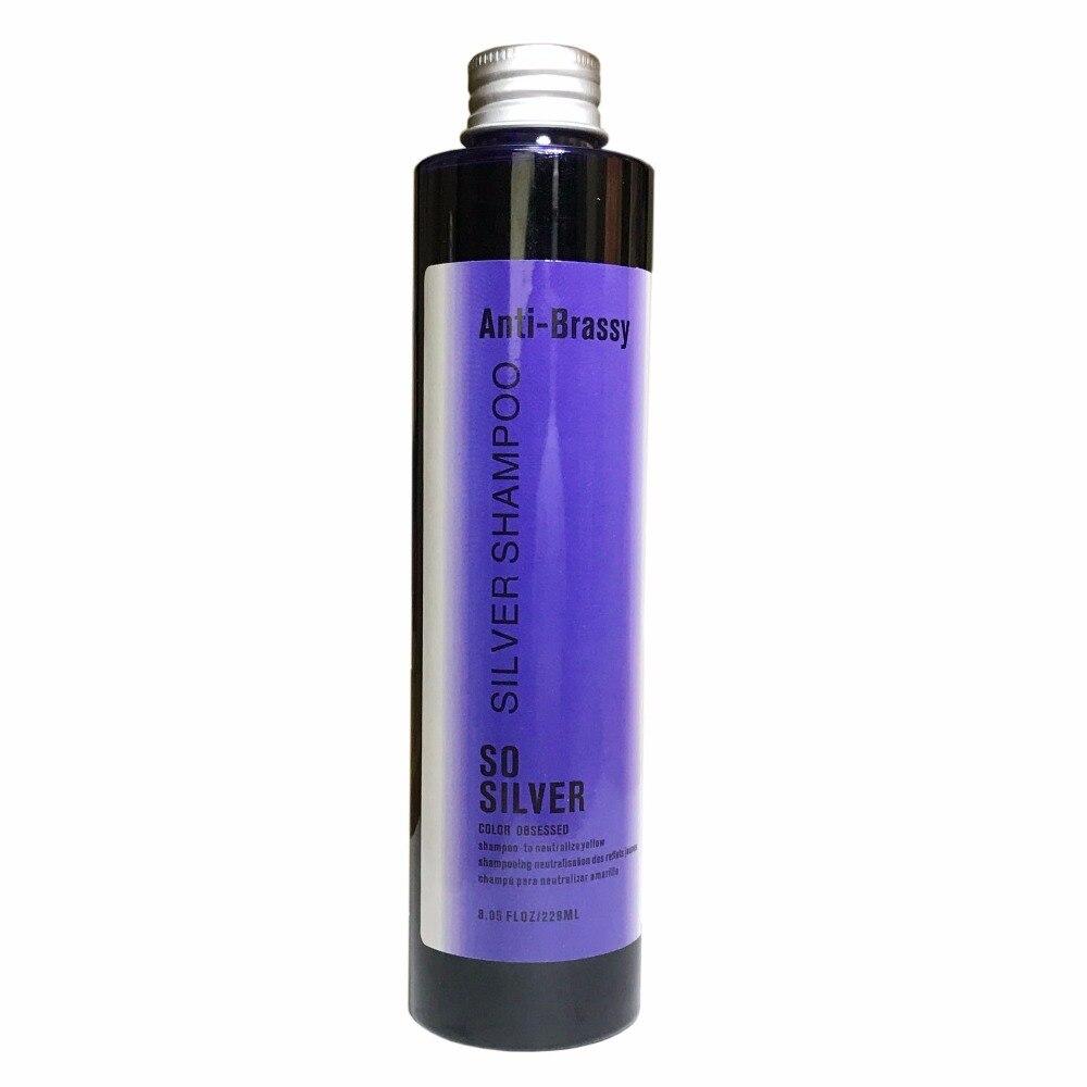 Фиолетовый шампунь для светлых или мелированных волос устраняет brassiness и Желтых Тонах осветляет серый или белый волос 100% жестокость